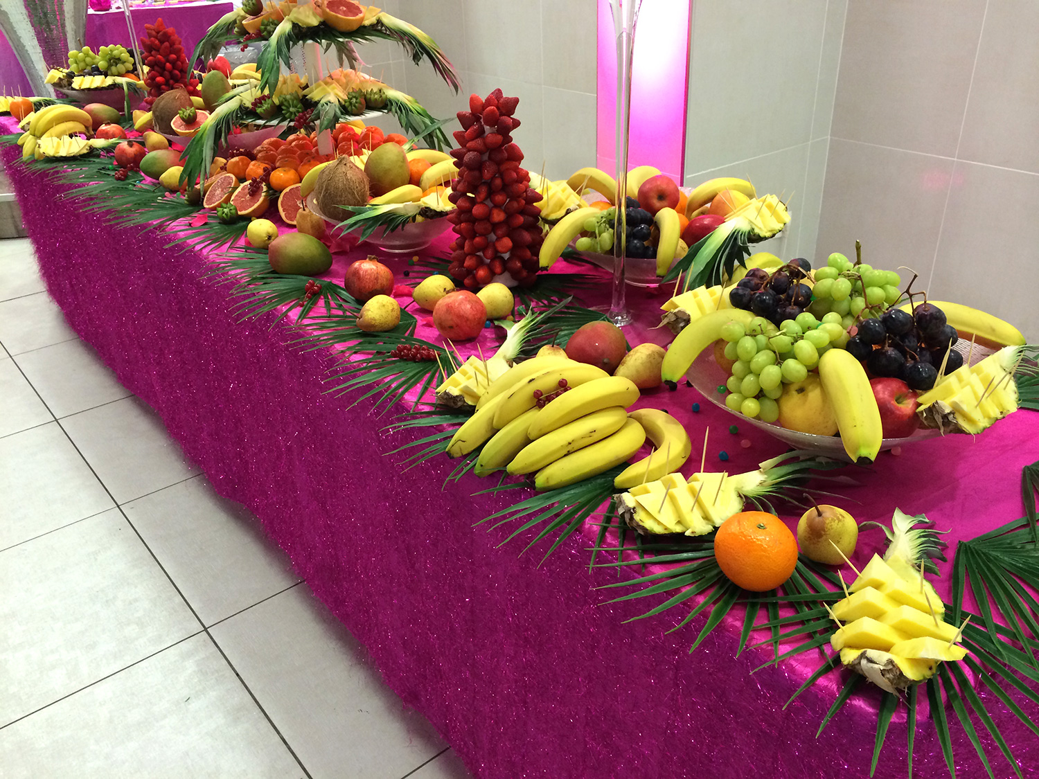 animation culinaire buffet de fruits