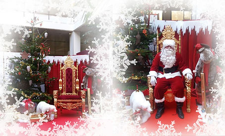 animation stand photo du pere noel
