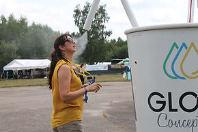 Brumisateur géant pour événement, brumisateur design pour evenement