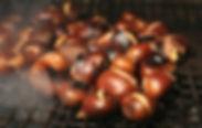 stand a marrons chaud grillés, animation marrons chauds grillés