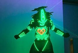 Robot lumineux soiree