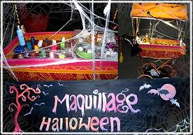 Animation maquillage halloween, stand maquillage halloween
