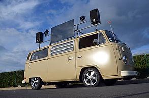 animation sound truck, camion musical, sound truck