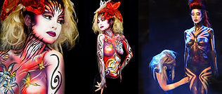 animation body painting, animation maquillage sur corps