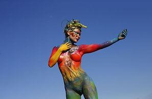 peinture corporelle pour evenement, animation body painting, animation peinture corporelle, animation body painting pour soiree et evenement