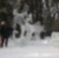 sculpture sur glace pour soiree et evenement