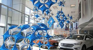 decoration ballons centre commercial, decoration ballons magasin
