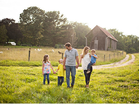 Southern Maryland Sunset Family Session || The T Family