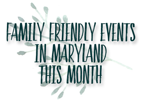 Family Friendly October events in Maryland