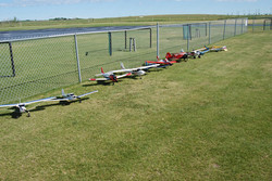 more of the other end of the flight line
