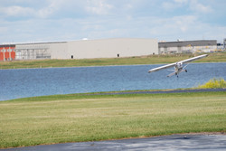 Laying an egg on the runway