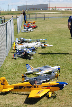 The other end of flight line