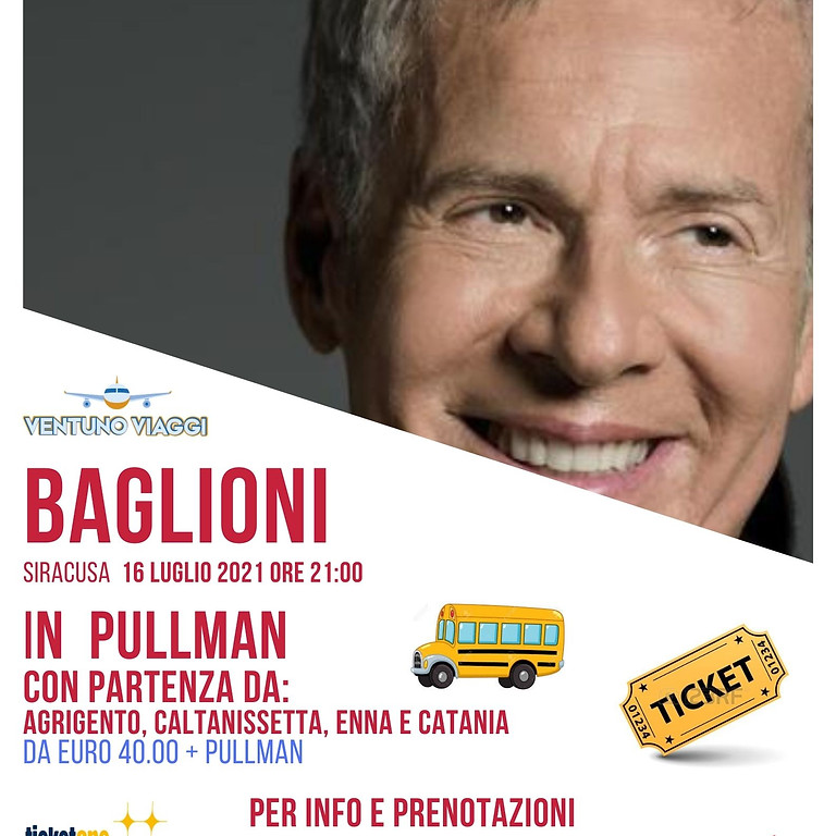 CONCERTO CLAUDIO BAGLIONI