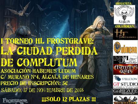 I Torneo deFrostgraveHabemus Ludum Alcalá: La ciudad perdida de Complutum (17nov)