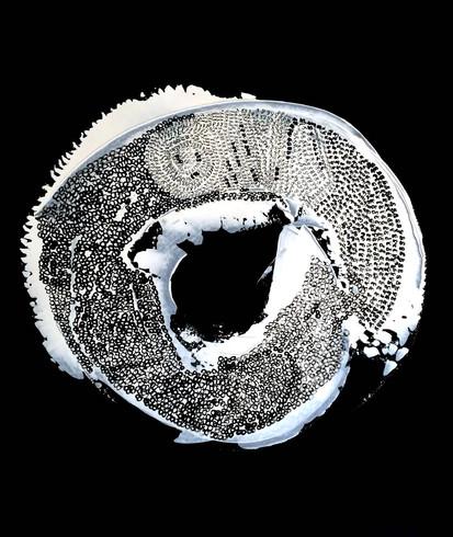 White On Black Circular Infinity