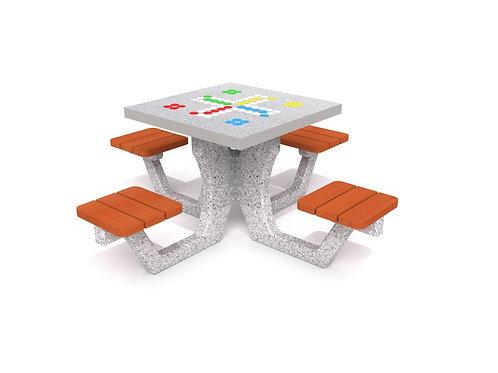 Betona galds Ludo spēle 01