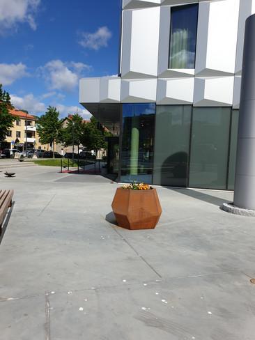Corten planter Stockholm
