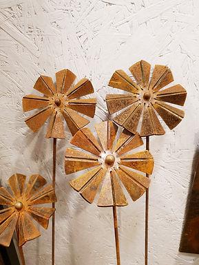 Corten flowers 3st