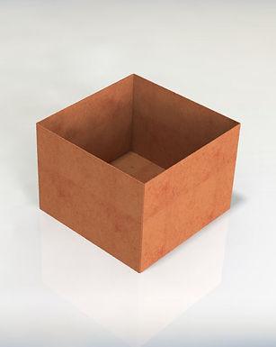 Kvadratiska kruka med botten 70x70x40(h)cm