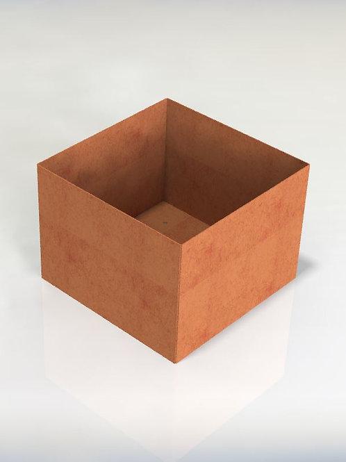 Kvadratiska kruka med botten 80x80x70(h)cm