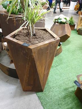 Corten steel planter 50x50cm x 72cm (h)