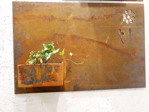 Design corten planter on wall 40x60cm Nr. 4