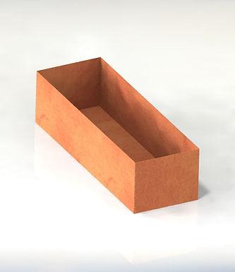 Corten rektangulära kruka med botten 150x25x60(h)cm