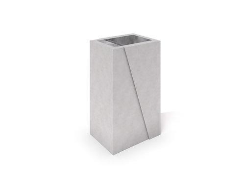 DECO pelēka betona atkritumu tvertne 01