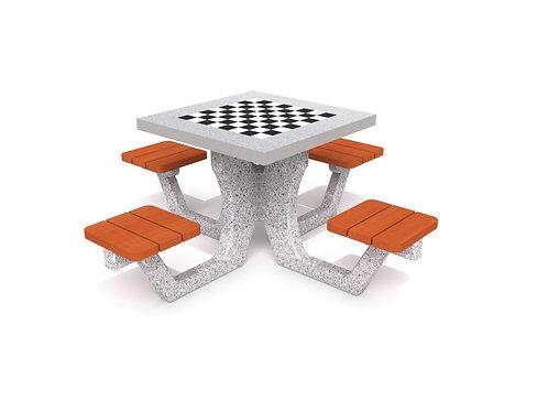 Betona galds šaham - dambrete 01