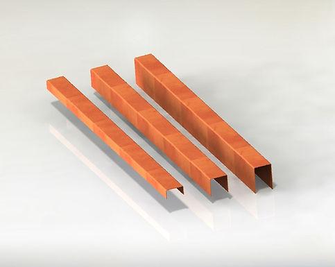 U-Typ Corten Rabattkant plåt 5+10+5cm *200cm