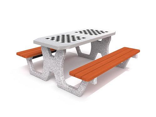 Betona galds šaham - dambrete 02