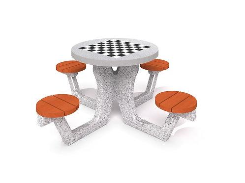 Betona galds šaham - dambrete 03
