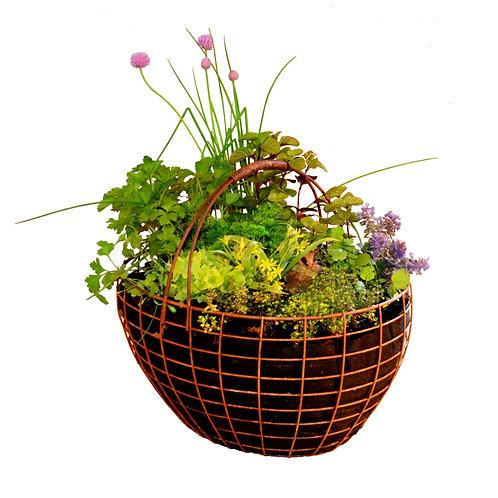 Rust Basket for plants 43x34x22(h) cm
