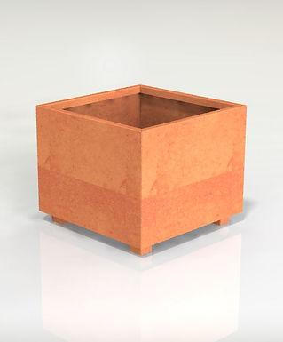 Kvadratiska kruka med botten 60x60x100(h)cm