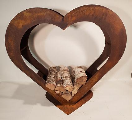 Custom size Vedförvaring heart