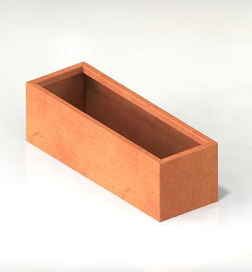 Corten rektangulära kruka med botten 150x100x110(h) IK