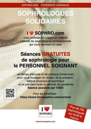 A situation exceptionnelle, collectif exceptionnel! Sophrologues Solidaires! Covid 19