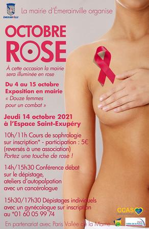 Octobre ROSE, prévention du cancer du sein: séance de sophrologie, informations et dépistages!