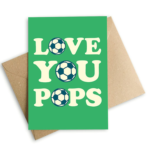 Love You Pops Football Father's Day Card