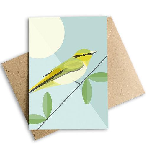 Wood Warbler Greetings Card