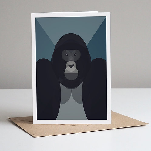 Mid Century Gorilla Greetings Card