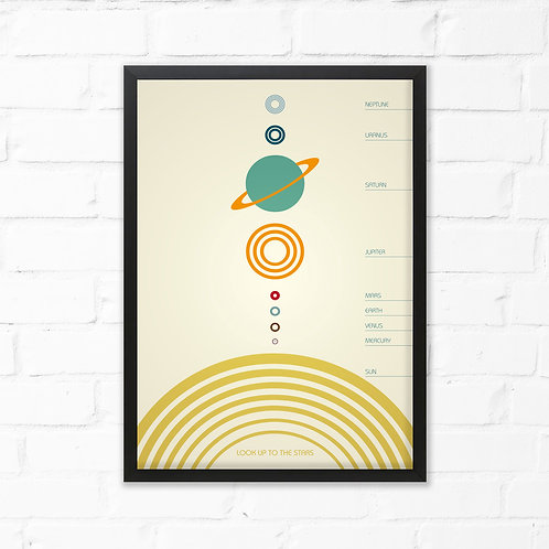 Look Up To The Stars Solar System Print