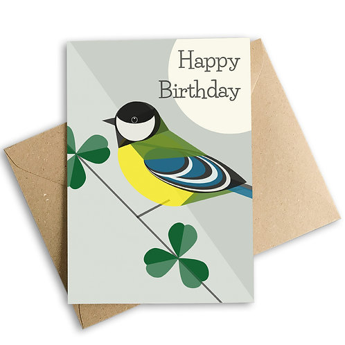 Great Tit Birthday Card
