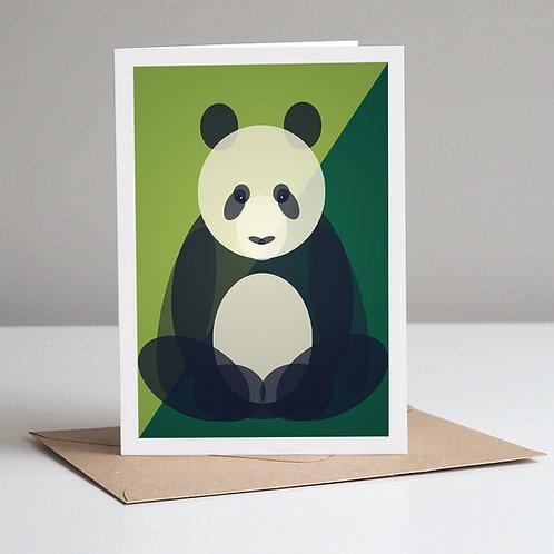 Mid Century Panda Card