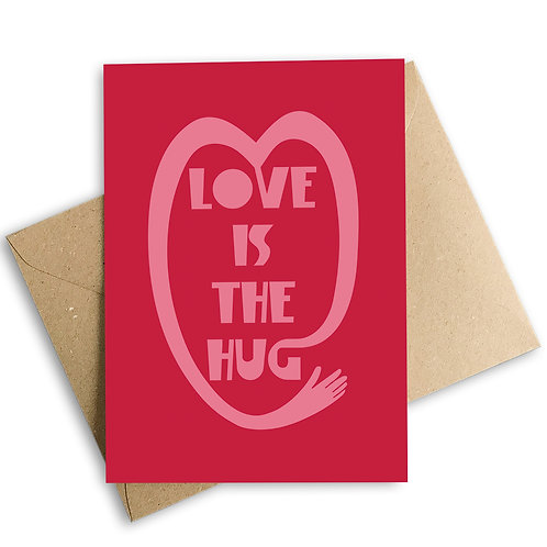 Love Is The Hug Card