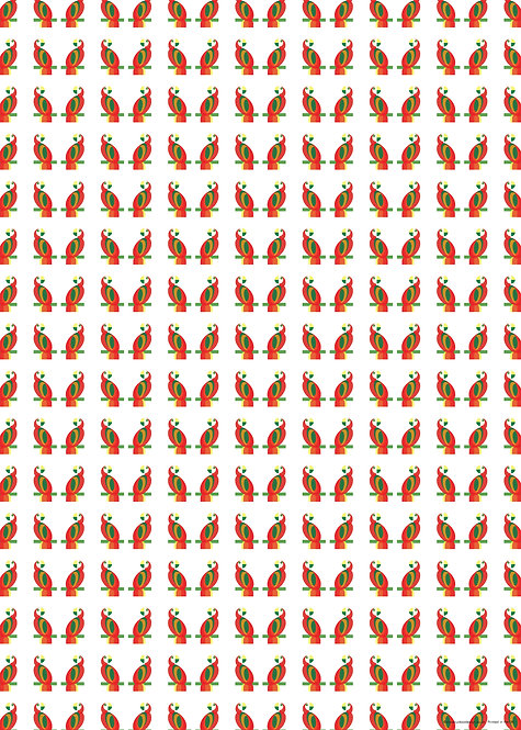 Parrot Wrapping Paper