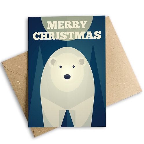 Merry Christmas Polar Bear Card