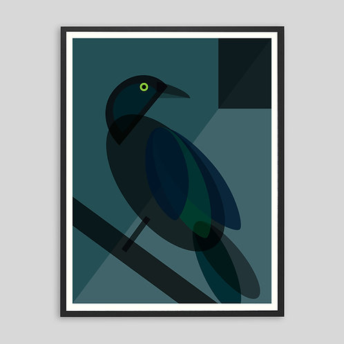 Mid Century Bird Print