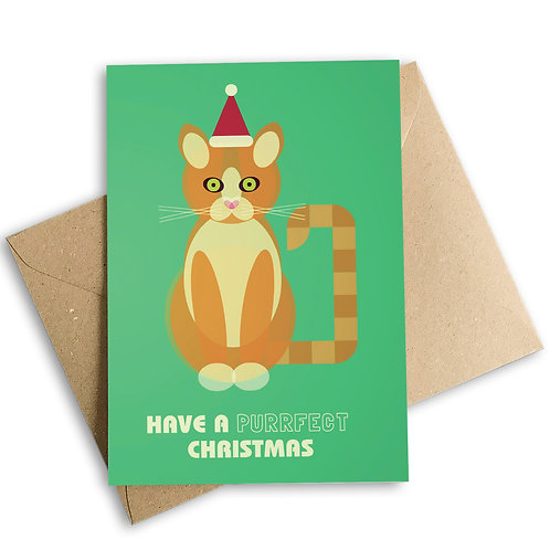 Have A Purrfect Christmas Cat Card