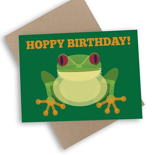 Hoppy Birthday Tree Frog Card